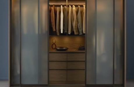 California Closets contemporary reach in closet design Palm Springs
