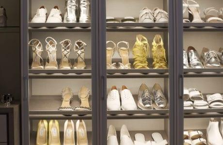 California Closets shoe rack Palm Springs