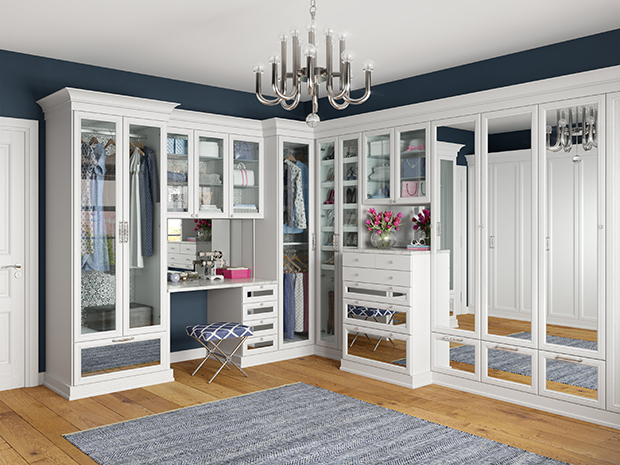 California Closets New Orleans - Custom Walk-In Closet System