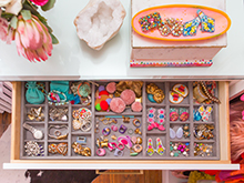 Light Wood Dresser Drawer with Jewelry Organizer Insert