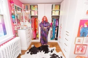 A Colorfully-Coordinated Closet for Designer Tiffany Pratt