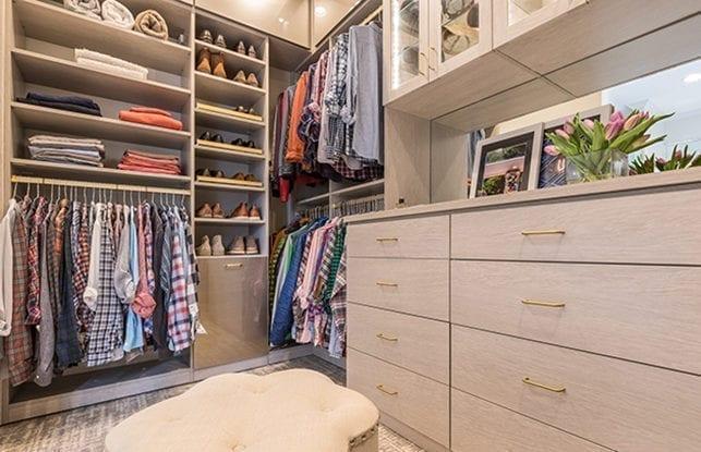 Sleek Masculine Closet For Davis Ligon California
