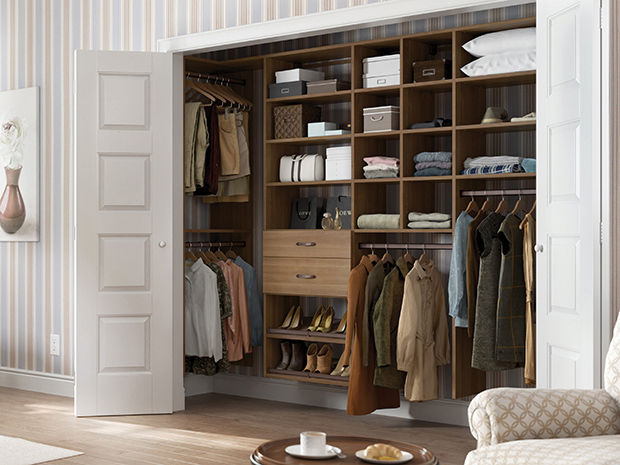 California Closets New York - Delancy Reach-in Closet