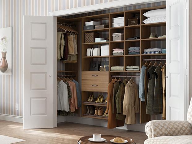 California Closets Bluffton - Custom Reach-In Closet Unit