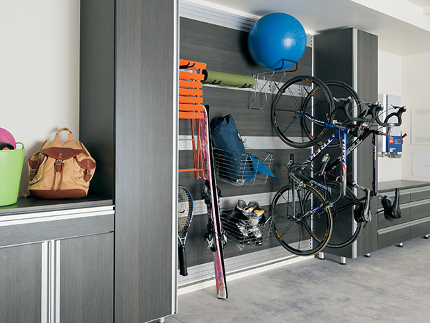 California Closets Palm Springs - Lee Family Garage with Fusion Track Wall System