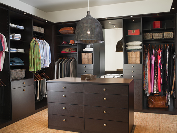 California Closets New York - Lee Master Walk in Closet with Center Island