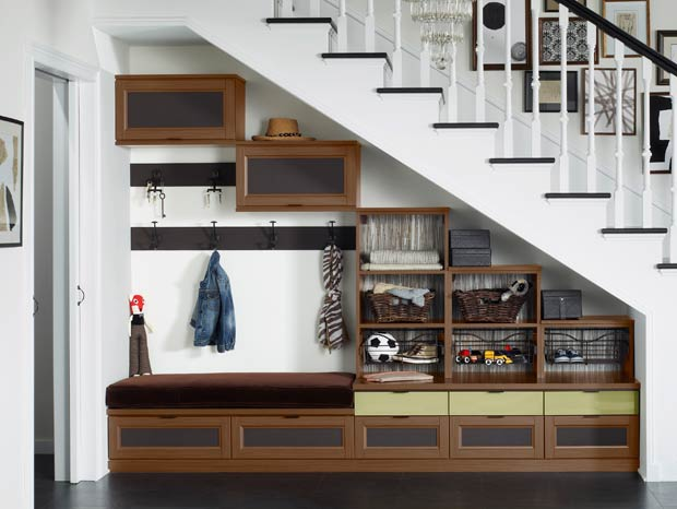 California Closets New York - Ashville Entryway Storage