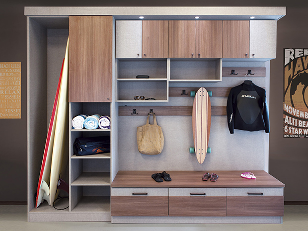 California Closets Palm Springs - San Diego Mudroom