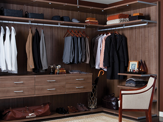 California Closets Palm Springs - Toronto Master Walk in Closet
