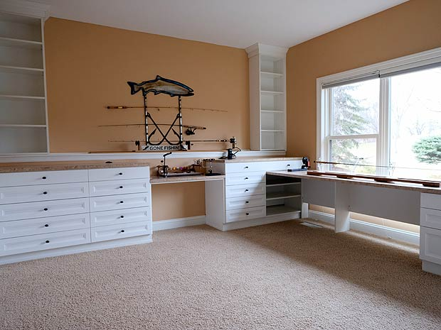 How to create a fisherman 39 s sanctuary california closets for California closets craft room
