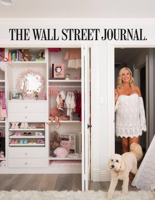 The Wall Street Journal features California Closets