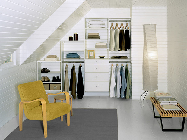 California Closets La Crosse - Attic Reach In Closet Storage System