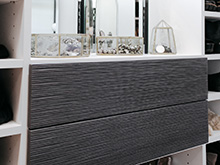 Dark gray textured gray cabinet fronts