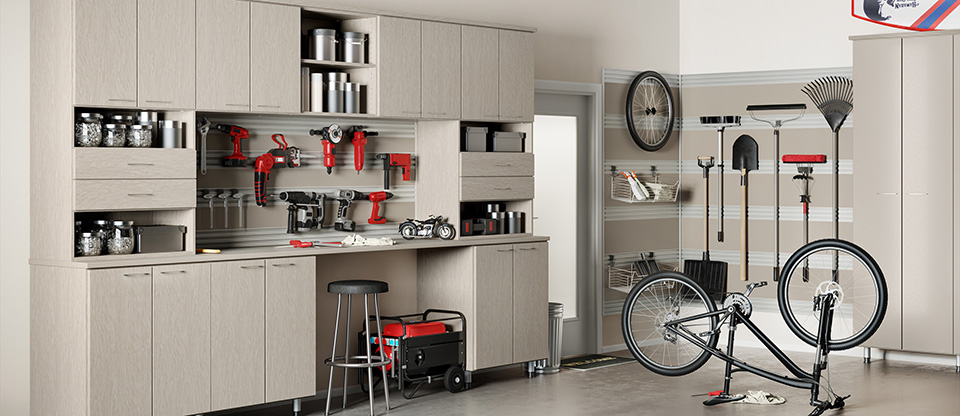 California Closets Inland Empire - Store More in Your Garage with Custom Storage Cabinets