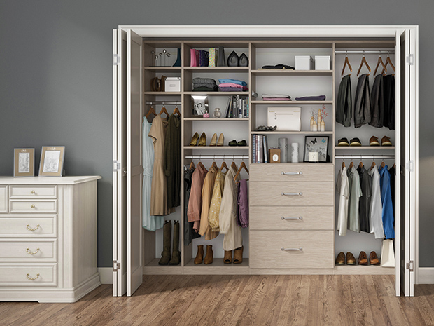 California Closets Rhode Island - Custom Reach-In Closet