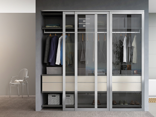 California Closets West Palm Beach   Reach In Closet With Sliding Doors