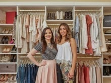 California Closets client Ari Perez and her designer standing in her custom closet