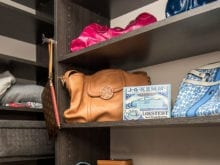 Shelves and hanging rods in California Closets client Janna Sutter's new closet