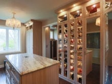 California Closets Client Story Jill K Table and Shoe Storage