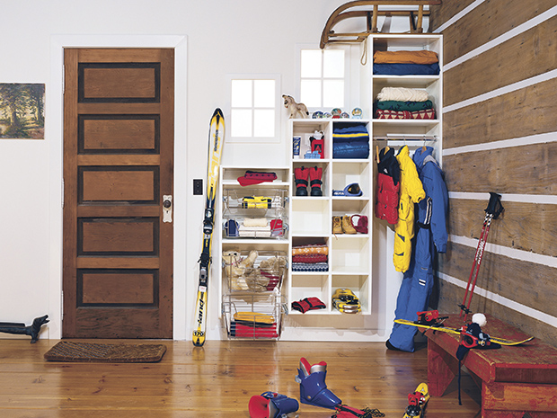 California Closets New Hampshire - Mudroom Storage Solutions