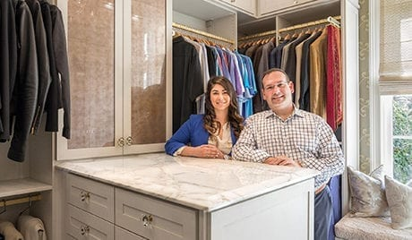California Closets Chad Pruett Client Story with his designer Whitney Hahn in the final closet