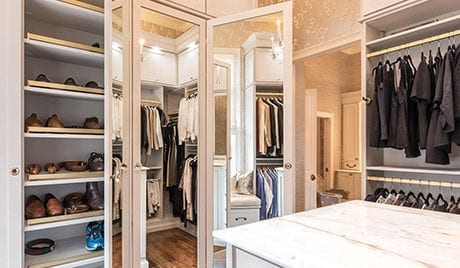 California Closets Chad Pruett Client Story After Shoes Mirrors and Black shirts