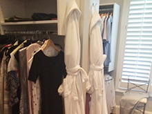 California Closets Chad Pruett Client Story Before Robes and Dresses