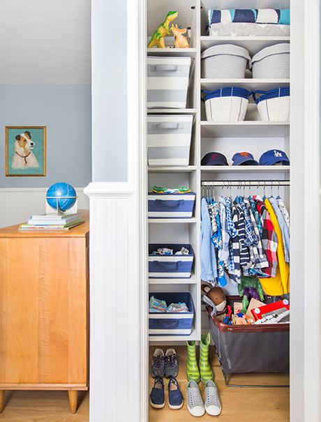 California Closets Emily Henderson Client Story boys closet