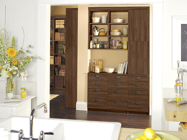 California Closets New Hampshire - Kitchen Pantry System