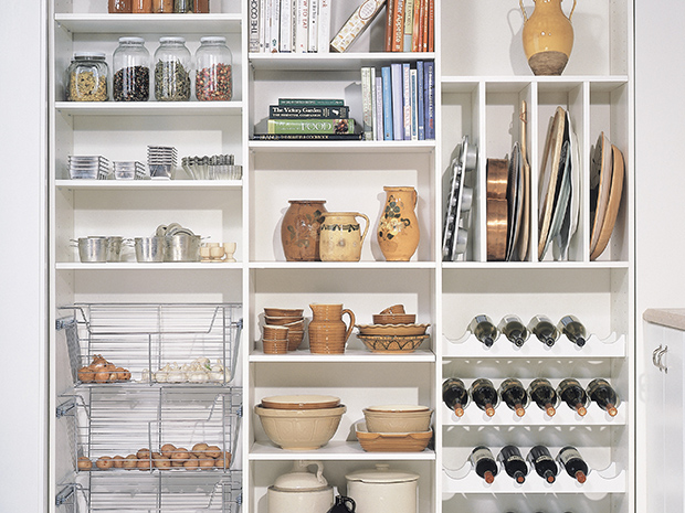 California Closets Chicago - Custom Pantry System Accessories