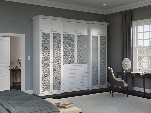California Closets Inland Empire - Wardrobe Closet with Custom Doors