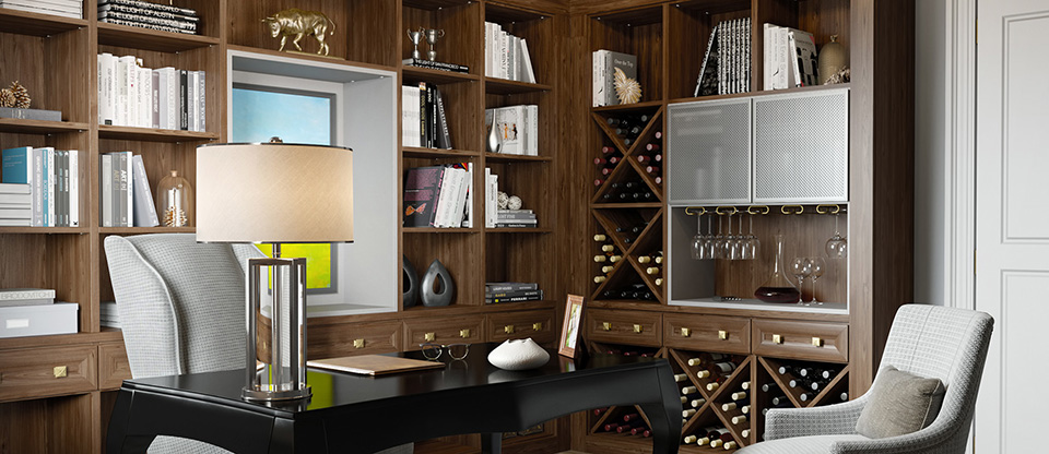 California Closets San Antonio - Custom Wine Racks for Entertaining