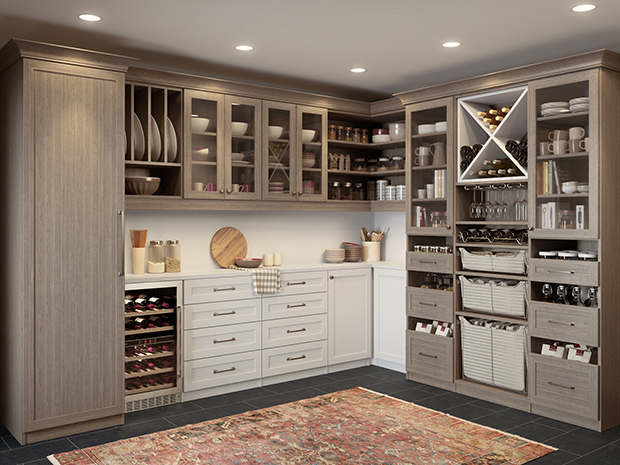 California Closets San Antonio - Walk-In Custom Pantry System