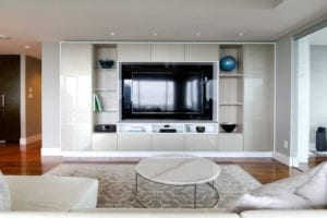 Tara Blanchet Client Story Modern Clean Living Room with Round Grommets and Classic White Accents