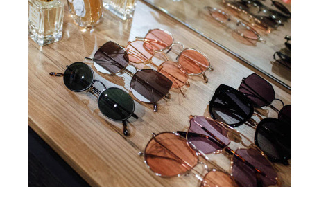 Aimee Song Client Story Sunglasses Organized On Table Top