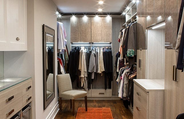 One Chicago Couple's Contemporary Walk-in Closet