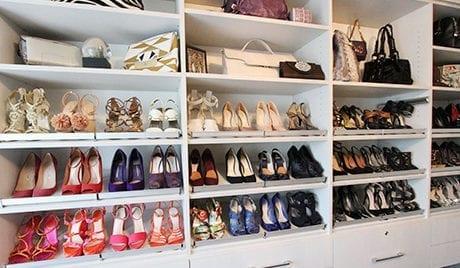 Client Story Janna Walk in Closet with Shoe Storage