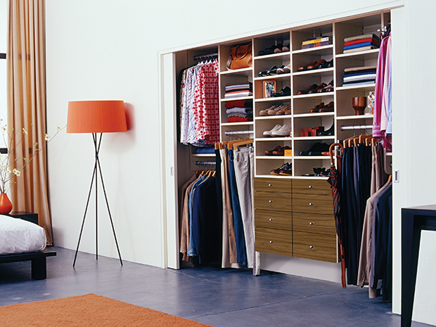 California Closets Sarasota - Custom Reach-in Closet System