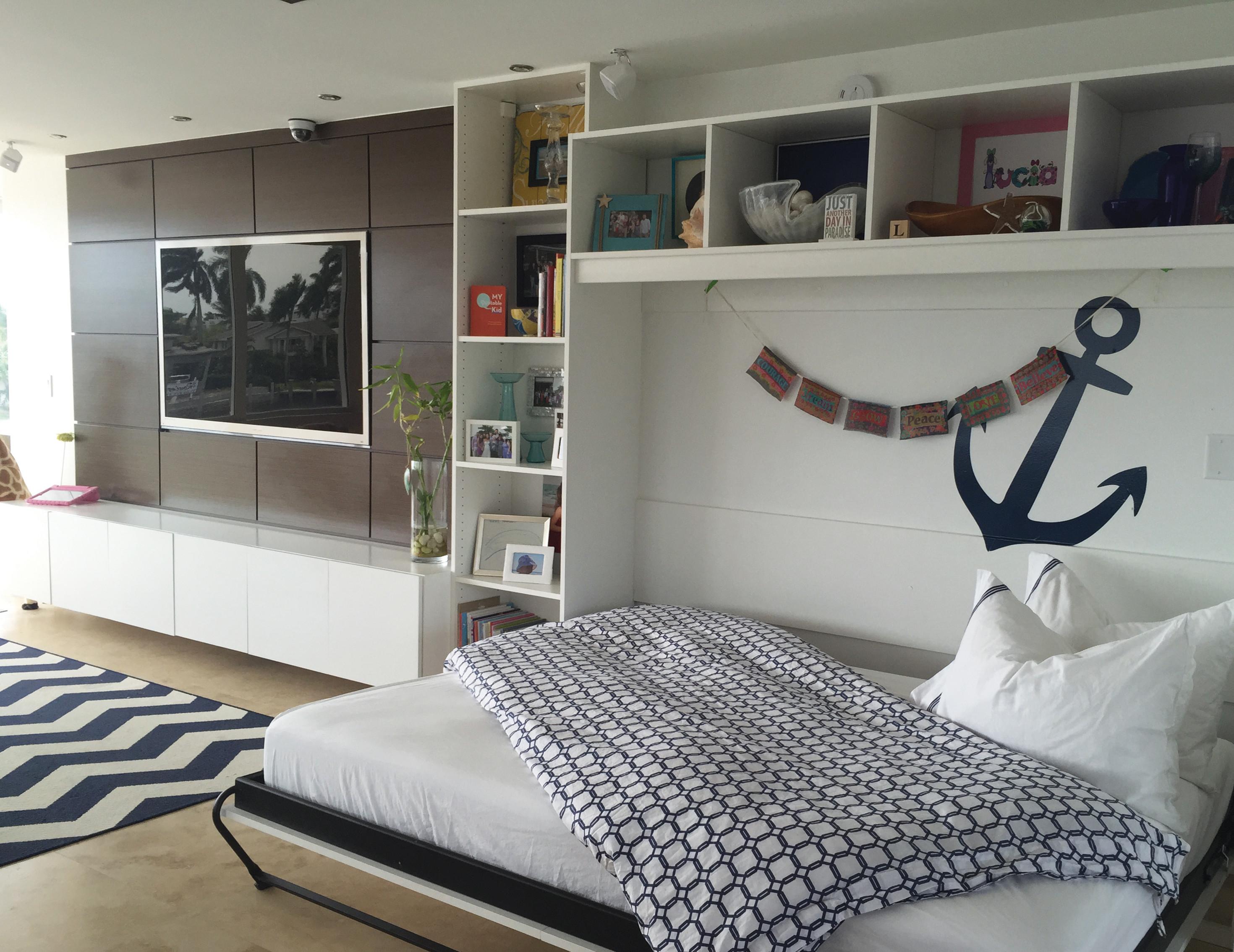 California Closets Dallas   Side Tilt Wall Bed System