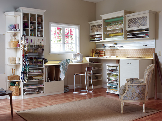 California Closets DC - Craft Room Storage System