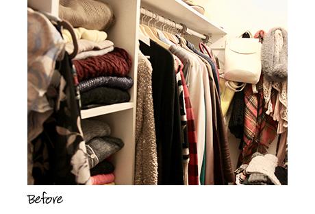 Before image of California Closets client Kari Skelton's closet