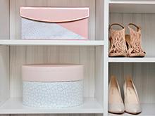 Client Stories Kari Skelton California Closets Organized Shoe and Purse Storage in Light White Finish