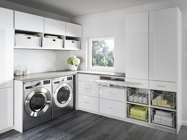 California Closets New Hampshire - Laundry Room Storage System