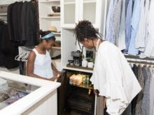 Damon and Wendy Commercial Client Story California Closets Atlanta Mini Fridge in Walk in Closet