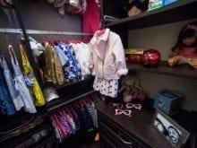 California Closets Client Story Melissa Walk in Closet in Dark Brown Finish
