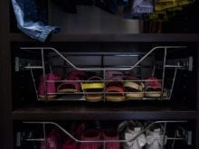 Melissa Maeker Commercial Client Story California Closets Wire Basket for Shoes