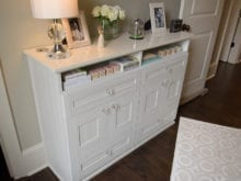 Client Story Melissa Classic White Bedroom Stand with Crystal Hardware
