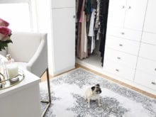 California Closets Client Story Kristine Leathy Gallery White Living Space with Stainless Hardware