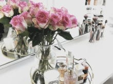 Kristine Leahy Client Story California Closets Rose Bouquet with Classic White Table