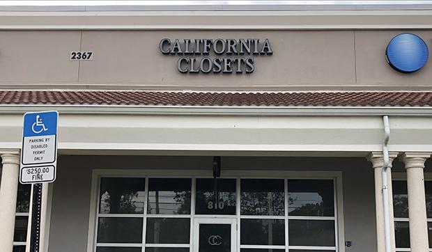 Galleria Showroom Exterior California Closets Southwest Florida, 2018